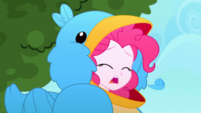 Pinkie Pie coughs up a bird feather SS10
