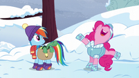 Pinkie Pie planning a party for Tank S5E5