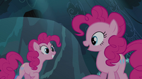 Pinkie Pie talking to her double S3E03