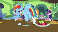 Rainbow Dash accuses Discord of flooding Sweet Apple Acres S03E10
