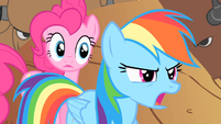 Rainbow Dash tells Pinkie to run S1E21