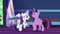 "Rarity ""you won't be traveling alone"" S9E26"