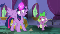 Spike about to belch fire again S8E11