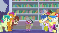Spike getting indigestion in the library S8E11