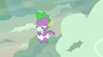 Spike with pacifier and diaper made of cloud S9E9