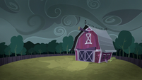 Sweet Apple Acres barn at dusk S6E15