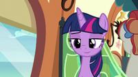 Twilight Sparkle amused at Apple Bloom S8E6