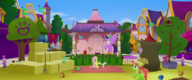 Twilight flies into festival's petting zoo area MLPTM
