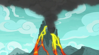 Volcano still releasing lava and smoke S7E16