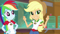 Applejack making air quotes EG4.png
