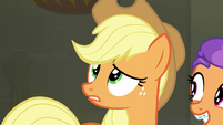Applejack wonders what Rarity would want S6E9