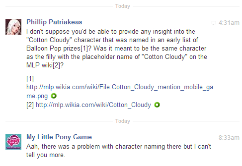 Cotton Cloudy clarification Gameloft mobile game