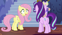 Fluttershy accepting Starlight's orders S6E21