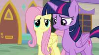 Fluttershy notices Twilight is a little sad S9E24