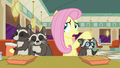 "Fluttershy puts her hoof on Smoky Jr. ""so they were temporarily camped out"" S6E9.png"