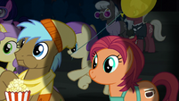Manehattan ponies watching the play together S5E16