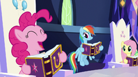 "Pinkie Pie excited ""birth-iversary!"" S7E14"