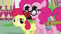 Pinkie hears Apple Bloom S5E19