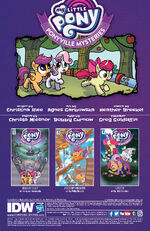 Ponyville Mysteries issue 4 credits page
