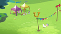 Rainbow, Fluttershy and Bulk walking together S4E10.png