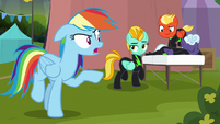 Rainbow Dash still mad at Lightning Dust S8E20