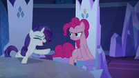 Rarity Changeling laughing at Spike Changeling S6E25