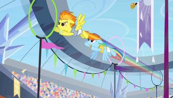 S04E24 Wyścig pomiędzy Spitfire i Rainbow Dash