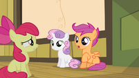 Scootaloo beginning to talk S4E17