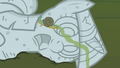 Snail crawling across Twilight's statue S1E17.png