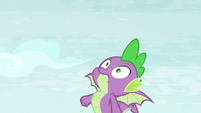 Spike's body seizes up and falls S8E24