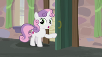 Sweetie Belle warning Big McIntosh and Apple Bloom S7E8
