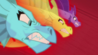 The Dazzlings' siren forms about to strike the Rainbooms EG2