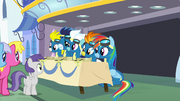The Wonderbolts at an autograph signing S7E7