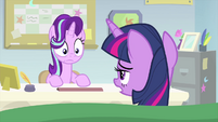 Twilight Sparkle starts to wake up MLPS4