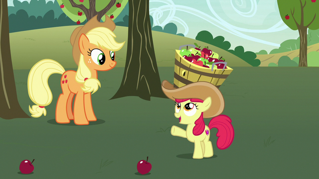 "File:Apple Bloom ""that is a lot better!"" S7E9.png"