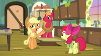Applejack -so upset she couldn't talk- S7E13