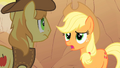 Applejack talks to Braeburn about her missing friends S1E21.png