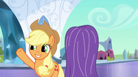Applejack waves crystal mare off S3E2