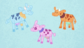 Blue, pink, and orange cows in Pinkie's story S7E11.png