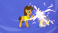 Cheese throws pie onto pony's face S4E12