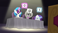 DJ Pon-3, Octavia, and Rarity give poor scores S5E4.png