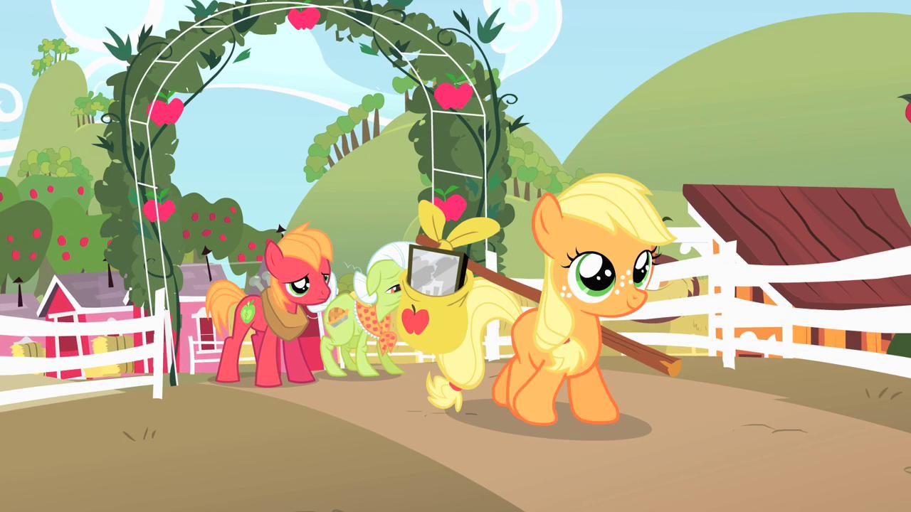 Image - Filly Applejack leaving farm S1E23.png | My Little Pony ...