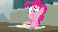 Pinkie Pie looking repulsed S6E12