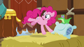 Pinkie freezes in midair and looks at other yaks S7E11.png