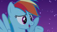 Rainbow Dash acting innocent S6E15