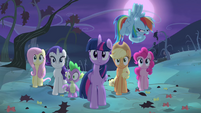 Rainbow Dash making spooky voice S4E07