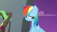 Rainbow Dash nodding sadly S6E7