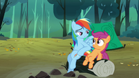 Rainbow nudging Scootaloo S3E6