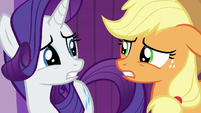 Rarity and AJ even more worried S6E10