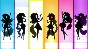 Row of Mane Six silhouettes EG2